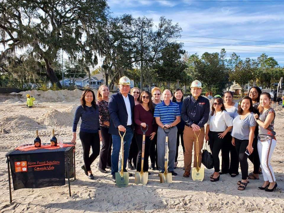 Staff Ground breaking group